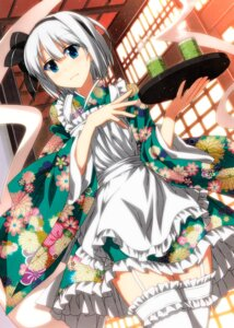 Rating: Safe Score: 62 Tags: konpaku_youmu maid sazanami_mio stockings thighhighs touhou wa_maid User: Mr_GT