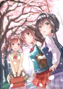 Rating: Safe Score: 37 Tags: igarashi_kyouko kachiyori kohinata_miho seifuku shimamura_uzuki sweater the_idolm@ster the_idolm@ster_cinderella_girls User: hiroimo2