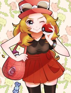 Rating: Safe Score: 13 Tags: nintendo pokemon pokemon_xy serena_(pokemon) thighhighs yupiteru User: cosmic+T5