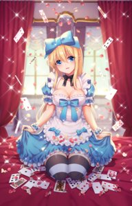 Rating: Safe Score: 61 Tags: alice alice_in_wonderland cleavage hoshina_meito skirt_lift thighhighs User: Mr_GT