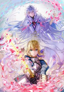 Rating: Safe Score: 19 Tags: armor fate/stay_night kirinosuke merlin_(fate/stay_night) saber sword User: Mr_GT