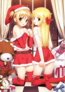 Rating: Questionable Score: 150 Tags: bra christmas hiide loli nekomiya_nono sakura_sakura thighhighs yoshioka_nanoha yotsunoha User: crim