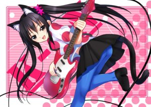 Rating: Safe Score: 37 Tags: animal_ears guitar koi k-on! nakano_azusa nekomimi pantyhose tail User: fireattack