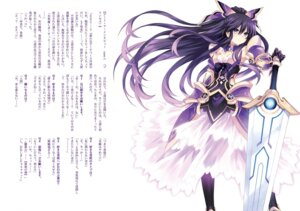 Rating: Safe Score: 44 Tags: armor cleavage date_a_live see_through sword thighhighs tsunako yatogami_tooka User: kiyoe