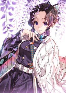 Rating: Safe Score: 12 Tags: japanese_clothes kimetsu_no_yaiba kochou_shinobu sword tagme uniform User: Mr_GT