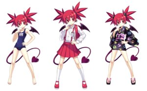 Rating: Safe Score: 20 Tags: cross_edge devil disgaea etna nippon_ichi_software pointy_ears school_swimsuit seifuku swimsuits tail tsunako wings yukata User: Radioactive