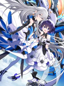 Rating: Questionable Score: 11 Tags: benghuai_xueyuan bronya_zaychik cleavage dress heels honkai_impact jell mecha see_through seele_vollerei thighhighs weapon User: sym455