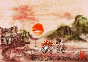 Rating: Safe Score: 16 Tags: amaterasu landscape ookami User: Radioactive