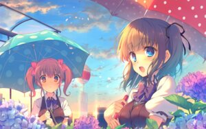 Rating: Safe Score: 71 Tags: berry's houkou_yuuka reia seifuku tatsumi_wakaba umbrella wallpaper User: edogawaconan