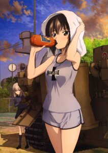 Rating: Safe Score: 34 Tags: girls_und_panzer gym_uniform itsumi_erika nishizumi_maho uniform User: drop