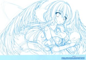 Rating: Safe Score: 18 Tags: cleavage karomix karory monochrome sketch wings User: kiyoe