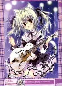 Rating: Questionable Score: 55 Tags: animal_ears garter_belt guitar hellrun lolita_fashion nekomimi stockings tail thighhighs User: drop