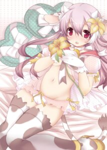 Rating: Questionable Score: 34 Tags: animal_ears horns no_bra open_shirt pantsu tagme tail thighhighs User: petopeto
