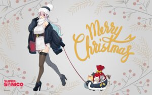Rating: Questionable Score: 23 Tags: christmas dress headphones heels neko sonico stockings super_sonico sweater tagme thighhighs wallpaper User: ManaAlchemist