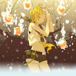 Rating: Safe Score: 13 Tags: headphones kagamine_rin miyama_fugin vocaloid User: animeprincess