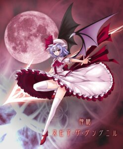 Rating: Safe Score: 25 Tags: pantsu remilia_scarlet thighhighs touhou utakata wings User: yumichi-sama