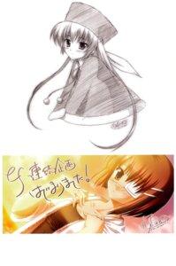Rating: Safe Score: 10 Tags: amamiya_yuuko autographed ef_~a_fairytale_of_the_two~ eyepatch shindou_chihiro shouna_mitsuishi User: avrild12