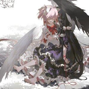 Rating: Questionable Score: 14 Tags: akemi_homura dress kaname_madoka puella_magi_madoka_magica tatatsu ultimate_madoka wings User: Dreista