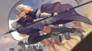 Rating: Safe Score: 15 Tags: armor bianyuanqishi dress fate/grand_order fate/stay_night heels jeanne_d'arc jeanne_d'arc_(fate/apocrypha) thighhighs weapon User: Mr_GT