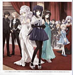 Rating: Safe Score: 118 Tags: business_suit canaan cleavage crossover dress emiya_kiritsugu fate/hollow_ataraxia fate/prototype fate/stay_night fate/zero kara_no_kyoukai karen_ortensia konoe_ototsugu kuonji_alice mahou_tsukai_no_yoru matou_sakura melty_blood minorikawa_minoru oosawa_maria pantyhose sajou_manaka see_through stockings thighhighs toono_akiha tsukihime type-moon wallachia User: Radioactive
