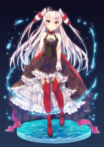 Rating: Safe Score: 64 Tags: amatsukaze_(kancolle) dress kantai_collection stockings tahya thighhighs User: Mr_GT