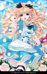 Rating: Safe Score: 18 Tags: a's_wonderland alice alice_in_wonderland dress kunishige_keiichi thighhighs User: Radioactive