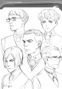 Rating: Safe Score: 4 Tags: character_design male monochrome range_murata shangri-la sketch User: Share