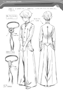 Rating: Safe Score: 8 Tags: character_design imaki_shion male monochrome range_murata shangri-la sketch User: Share