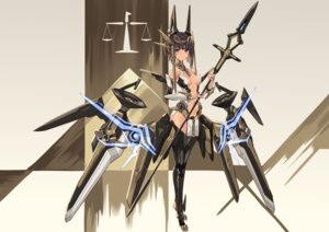 Rating: Questionable Score: 47 Tags: alice_gear_aegis mecha_musume no_bra pantsu sigma99 tagme thighhighs weapon User: BattlequeenYume