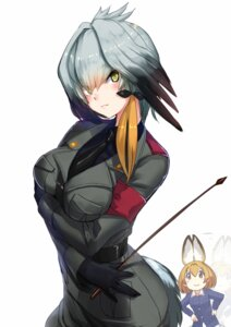 Rating: Safe Score: 36 Tags: akasa_ai anchovy animal_ears breast_hold cosplay girls_und_panzer kemono_friends nishizumi_miho serval shoebill tail uniform weapon wings User: Mr_GT