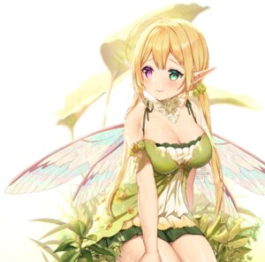 Rating: Safe Score: 47 Tags: cleavage fairy heterochromia pointy_ears rosuuri wings User: Mr_GT