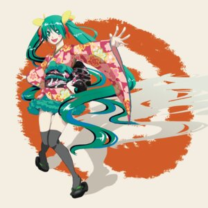 Rating: Safe Score: 6 Tags: hatsune_miku kimono naho thighhighs vocaloid User: charunetra