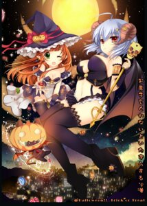 Rating: Safe Score: 54 Tags: cleavage duji_amo halloween horns thighhighs wings witch User: Nekotsúh