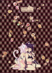 Rating: Questionable Score: 66 Tags: animal_ears bikini chocola cream garter neko_works nekomimi nekopara sayori swimsuits tail vanilla yuri User: Aurelia