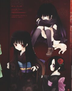 Rating: Safe Score: 10 Tags: crease enma_ai jigoku_shoujo kimono neko ririka seifuku User: Radioactive