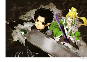 Rating: Safe Score: 22 Tags: accel_world alfheim_online armor cleavage kabashima_yousuke kirito leafa pointy_ears sword sword_art_online thighhighs User: drop