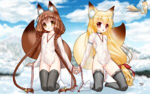 Rating: Explicit Score: 70 Tags: animal_ears bottomless kitsune loli miko nakajima_konta nipples no_bra pussy see_through snow_fox tail thighhighs uncensored wallpaper User: Mr_GT