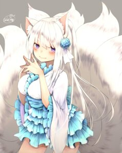 Rating: Safe Score: 54 Tags: animal_ears chita_(ketchup) dress kitsune lolita_fashion tail wa_lolita User: Mr_GT