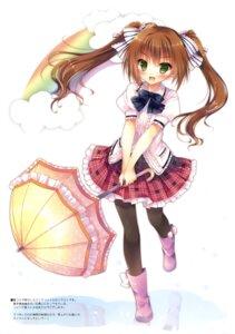 Rating: Safe Score: 71 Tags: asahi_hyuga hisama_kumako moco_chouchou pantyhose umbrella User: Twinsenzw