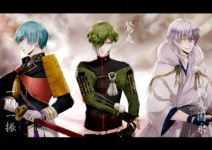 Rating: Safe Score: 5 Tags: ichigo_hitofuri japanese_clothes male sword touken_ranbu tsurumaru_kuninaga uguisumaru uniform User: joshuagraham