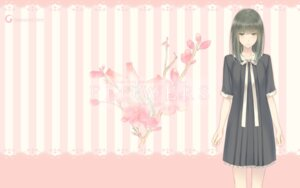 Rating: Safe Score: 35 Tags: flowers innocent_grey seifuku sugina_miki takasaki_chidori wallpaper User: saemonnokami