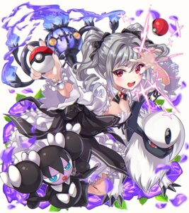 Rating: Safe Score: 18 Tags: absol chandelure cleavage crossover gothorita kanzaki_ranko pokemon tdnd-96 the_idolm@ster the_idolm@ster_cinderella_girls User: Mr_GT