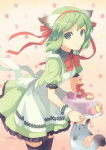 Rating: Safe Score: 32 Tags: animal_ears greenwood h2so4 maid midori neko nekomimi thighhighs User: midzki