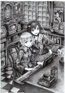 Rating: Safe Score: 5 Tags: komeiji_koishi komeiji_satori monochrome nobita touhou User: Radioactive