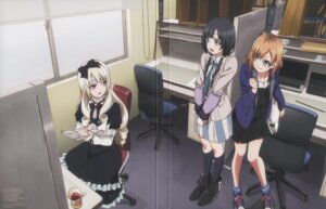 Rating: Safe Score: 37 Tags: dress gothic_lolita lolita_fashion miyamori_aoi ogasawara_rinko screening shirobako yasuhara_ema User: amasu