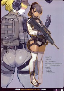 Rating: Questionable Score: 35 Tags: ass cameltoe gun headphones namaniku_atk thighhighs User: ferkunxd