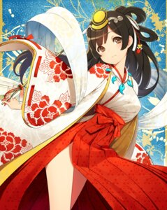 Rating: Safe Score: 46 Tags: kamo_kamen kimono miko User: charunetra