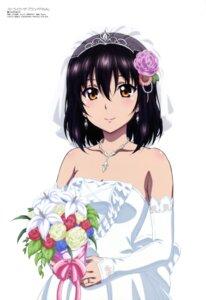 Rating: Safe Score: 65 Tags: dress furukawa_hideki himeragi_yukina no_bra strike_the_blood wedding_dress User: drop