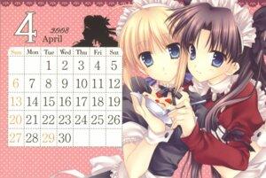 Rating: Safe Score: 16 Tags: calendar fate/stay_night maid saber tatekawa_mako toosaka_rin wnb User: Radioactive