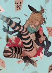 Rating: Safe Score: 43 Tags: alice alice_in_wonderland aruterra dress pantsu thighhighs User: Mr_GT